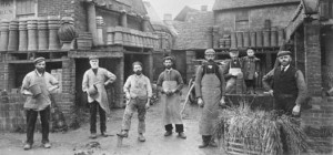 Sussex pottery workers circa 1902