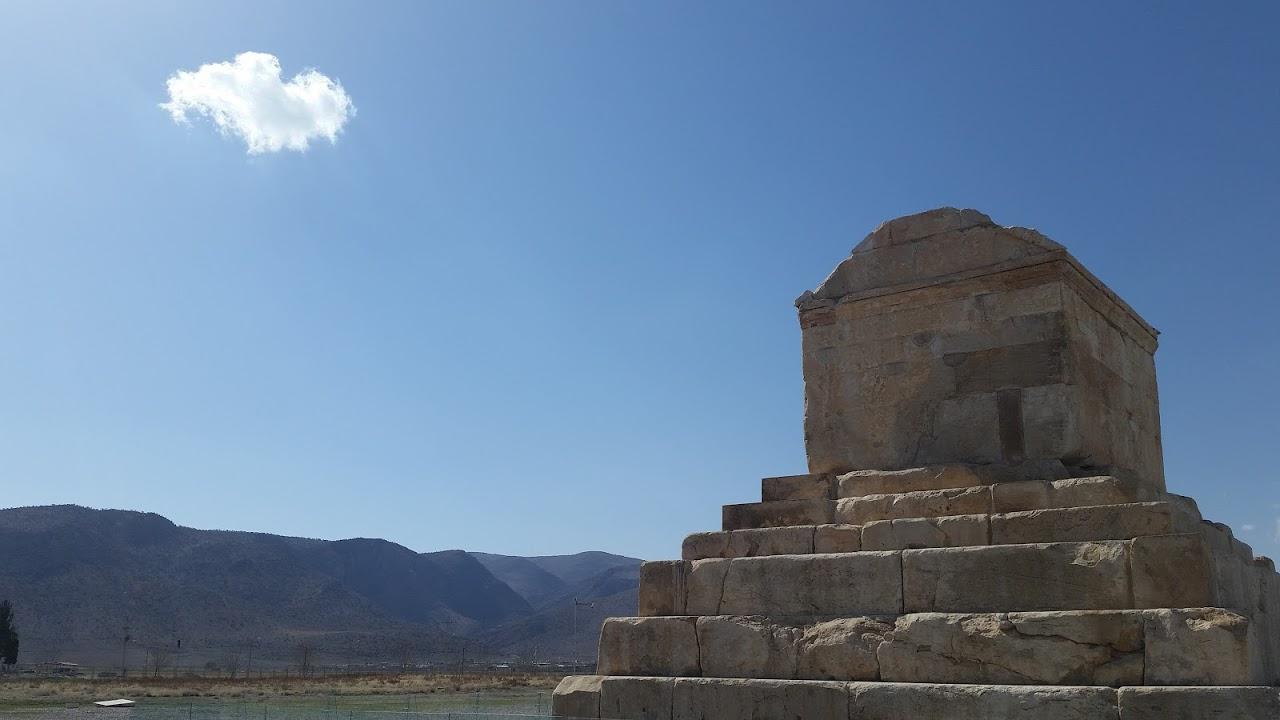 Cyrus's tomb, in Pasargadae, Iran