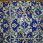 17th century handmade tiles in Kerman