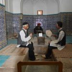 Handmade tile installation at Hamman-e-Ganjali-Khan bath house. 17 century (Safavid era) in Kerman Province..
